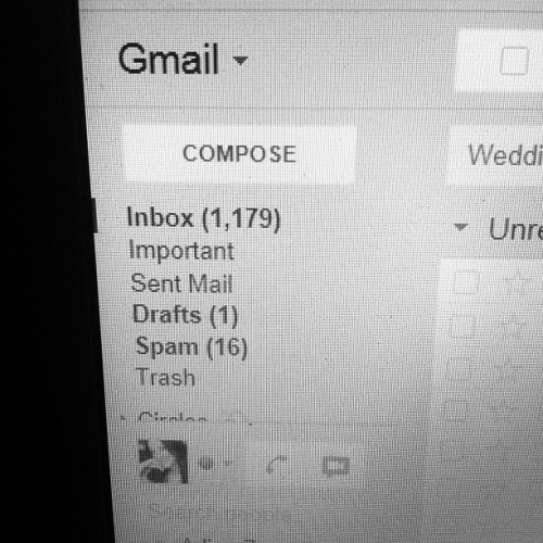 How is this possible?? Spending the day cleaning out my emails! #email #business #inbox