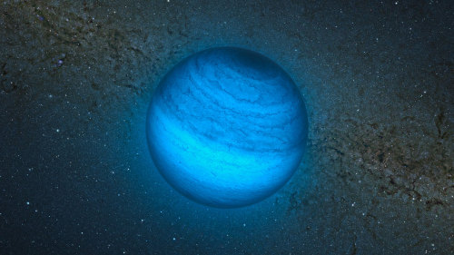 "'Orphan' Alien Planet Found Nearby Without Parent Star      Astronomers have discovered a potential ""rogue"" alien planet wandering alone just 100 light-years from Earth, suggesting that such starless worlds may be extremely common across the galaxy.      Image: This artist's impression shows the free-floating planet CFBDSIR2149, at 100 light-years away the closest such ""rogue"" world to our own solar system. It does not orbit a star and hence does not shine by reflected light; the faint glow it emits can only be detected in infrared light. Credit: ESO/L. Calçada/P. Delorme/Nick Risinger (skysurvey.org)/R. Saito/VVV Consortium       The free-floating object, called CFBDSIR2149, is likely a gas giant planet four to seven times more massive than Jupiter, scientists say in a new study unveiled today (Nov. 14). The planet cruises unbound through space relatively close to Earth (in astronomical terms), perhaps after being booted from its own solar system.      ""If this little object is a planet that has been ejected from its native system, it conjures up the striking image of orphaned worlds, drifting in the emptiness of space,"" study leader Philippe Delorme, of the Institute of Planetology and Astrophysics of Grenoble in France, said in a statement.      Orphan planet, or something else?      Delorme and his team discovered CFBDSIR2149 using the Canada-France-Hawaii Telescope, then examined its properties with the European Southern Observatory's Very Large Telescope in Chile.      The newfound object appears to be among a stream of young stars called the AB Doradus moving group, the closest such stream to our own solar system.      Scientists think the AB Doradus stars all formed together between 50 million and 120 million years ago. If CFBDSIR2149 is indeed associated with the group — and researchers cite a nearly 90 percent probability — then the object is similarly young.      And if the discovery team is right about CFBDSIR2149's age, the body is likely a planet, with an average temperature of 806 degrees Fahrenheit (430 degrees Celsius), researchers said.      There's still a slight chance that CFBDSIR2149 is a brown dwarf — a strange object that's larger than a planet but too small to trigger the internal nuclear fusion reactions required to become a full-fledged star. Additional observations should help decide the matter.      ""We need new observations to confirm that this object belongs to the AB Doradus moving group,"" Delorme told SPACE.com via email. ""With a good distance measurement and a more accurate proper motion, we will be able to increase (or decrease) the probability that it is indeed a planet.""      The new study was published today in the journal Astronomy & Astrophysics."