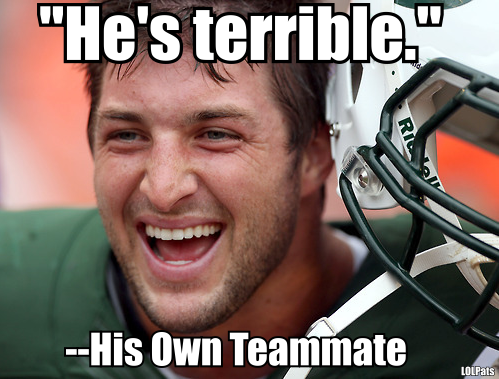 "They may be honest, but hot damn on rye, the NY Jets are a bunch of friggin pussies. Wow.  Yeah.  Wham!  There.  I said it.  Pretty simple if you ask me.  As much as you think your backup ""QB"" may suck on parade.  As much as you're sick'n tired of hearing about him and being asked questions about him.  As much as you think you'd like nothing more than to see an ice cream truck full of picnic trash & hobos crash into the guy.  You NEVER rip a teammate to the press if you're not man enough to give out your own name.  That makes you a 5-star, neon-lit, Strawberry Shortcake colored PUSSY.  That's so lame.  Such a limpdick thing to do.  Admit the quote came from you.  Own up to it.  Be a man.  What, are you afraid of said terrible player?  You concerned that you might cause some disharmony and discord in your happy-go-lucky after-school playhouse of a locker room?  Because it sure isn't much of a shitshow now.  NO!  It's a regular treehouse of whimsy, harmony & child-like fahkin' delight!  Cripes, this team really is an absolute disaster.  And a thorough embarrassment.  I almost feel bad for Jets fans.  Almost (the almost coming from the fact that there actually are a few nice ones out there I've enjoyed a coupla ABs with on one and several occasions).  Still, fahk me.  Just a disgrace.  Feeding right into the never-satisfied, always-consuming, Tebow-suck-off-festival that is ESPN.  Great, thanks for ruining SportsCenter or the idea of leaving any sports related TV on today while I pretend to do ""work"", you mouthy Gang Green pricks!Though I do thank the maker, my lucky stars, beer and many other treasured entities that the Pats, who obviously have a few things to fix and a coupla on-field issues to sort out themselves, play in the AFC East, which is rife with teams that can't get outta their own way.  The Pats are three good wins away from just about locking the East up, which will give them an abundance of time to figure out WTF to do with the e-fense.  If there's anything to do but a large shot of whiskey every time they take then field.  Or put on a blindfold and say ""I can't watch!""  Still, as I said yesterday, I have faith they'll find a way to get a few things done on the D (supply your own Mom joke here).  Dunno why.  Just do.  We'll see.  THAT'S WHY THE PLAY THE GAMES!  BECAUSE ON ANY GIVEN SUNDAY…etc…In other Shit…Tune in tomorrow AM for some Sox, Pats & nonsense talk with me and the boys of The Bax and O'Brien Show (the boys being Bax & O'rien, obv).  With that Toronto/Miami megatrade and a retooled Indy featuring The LUCKy Bastid coming to town on The Chuckstrong Wagon there's plenty to discuss & make bad jokes about.Also - just like Xmas songs are on the radio three weeks too early, there's been a deluge of Black Friday advertising well before the infamous day of retail mania.  So I now feel obliged to remind you all that yer ol' pal Fitzy will be staging his own annual WICKED BLACK FRIDAY SUPAHSALE, where all the shirts and merch in the Townie News Store will go on sale for 24 hours.  So if you've been hesitating on finally getting a BRADYVISION shirt, or stuffing your friend's stockings (no bromo) with some GRONK shirts, well, that should be your day get in while the getting's good.  Because we usually sell out of about everything.  Fast.  So make your calendar.  Pinch your pennies.  And go fahk yerself.More soon.  Go Pats.  GFY for the road.  OH, and if you're looking for something very sorta kinda awesome to watch at your desk today as you pretend to work/suck up company dollars, these frozen bowling tricks should do the, well, trick.ICE COLD BOWLING TRICK SHOTS from Almost Twins lolpats:  When U Play For The @NYJets U Can Alwayz Count On Fellow Players Protecting Stabbing U In The Back"