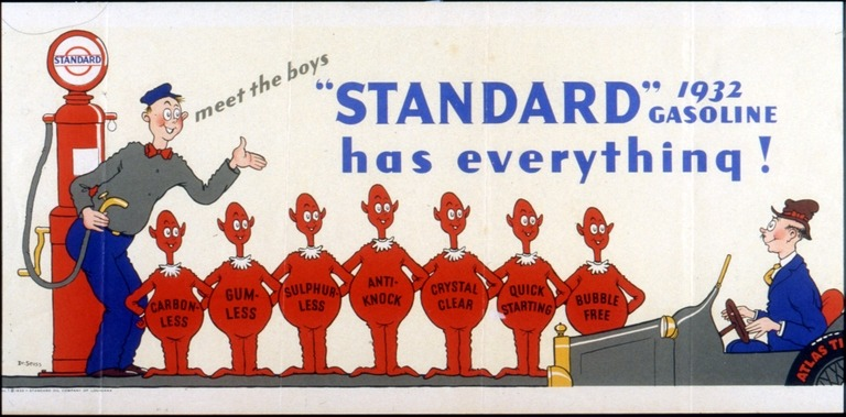 OMG The Standard does have everything!  Dr. Seuss was a big ad illustrator before he made it big as an author.   Gotta start somewhere