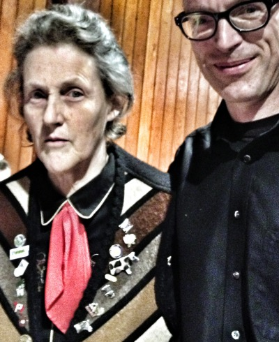 "With Dr. Temple Grandin today. She is an inspiring hero when it comes to humane treatment of animals - and personal success stories of people on the autism spectrum. Read her new book ""Different … Not Less"""