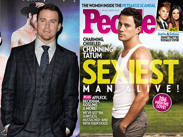 Channing Tatum is People's Sexeist Man Alive!  For once, no protests on People this year!  They've done good.