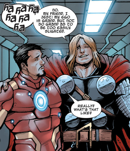 Really? what's that like?Avengers Assemble (2012) #9