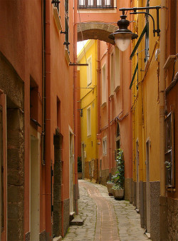 visitheworld:  One of the lovely side streets in Manarola, Liguria, Italy (by John in Scotland).