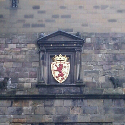#Scotland coat of arms at Edinburgh Castle #travel #castles #history