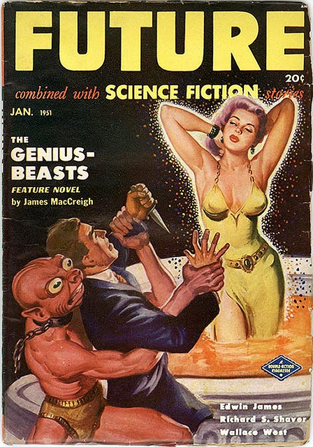 Future Science Fiction, Pulp Magazine - 1951 Jan by kocojim on Flickr.