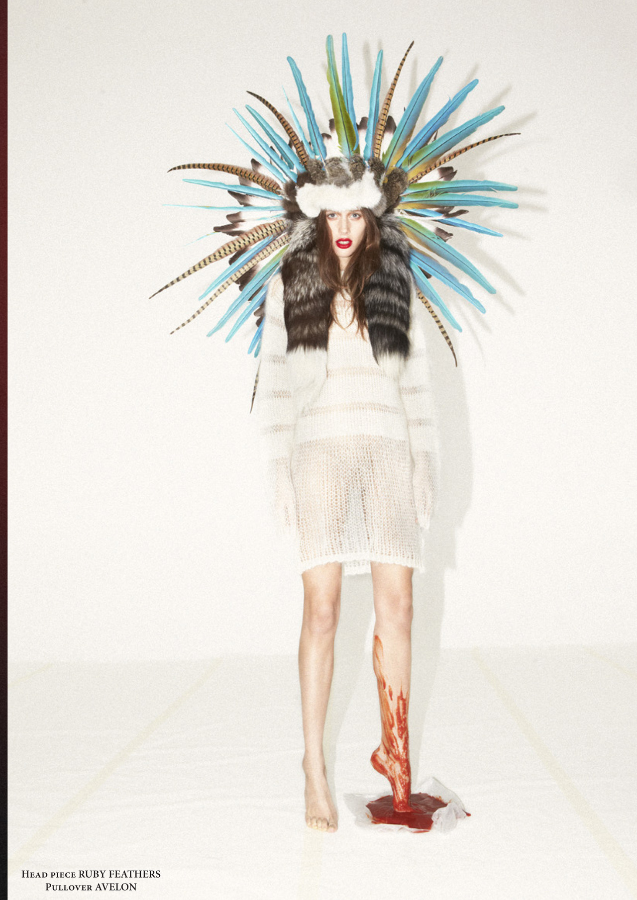 Super cool magazine launched its new issue. Lots of Ruby Feathers pieces featured!!!! Read the story here http://www.mkrmagazine.com/