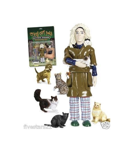 CRAZY CAT LADY ACTION DOLL