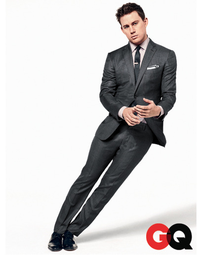 This Suit Can Talk Channing Tatum, GQ's Movie Star of the Year, suits up in Tom Ford, paired with John Varvatos shirt, tie by Burberry Prorsum, and shoes by Salvatore Ferragamo inside the issue.