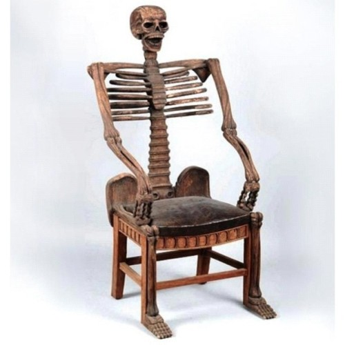 madametalbot:  Skeleton Chair  WANT!