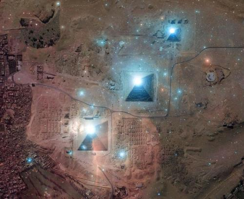 "The Pyramids and the Constellation of OrionAccording to the accepted version of history, the three massive Pyramids on the Giza Plateau in Egypt were built by armies of Hebrew slaves for the glory of the Pharaohs of Egypt. This idea was introduced to the world by the visit to Egypt of the 5th century Greek historian Herodotus. He claimed that the Pyramids were built by teams of 100,000 men, chan ged every few months, over a period of 20 years. The fact that this meant that one block of stone had to be laid exactly in place every 3 1/2 minutes 24 hours a day seems to have been overlooked by recent Egyptologists! The fact that there wasn't this kind of manpower in 4th Dynasty Egypt for almost 5000 miles around is equally ignored! Not to mention the ludicrous theories about the stones being rolled on logs – when the only trees endemic to Ancient Egypt were date palms (a valuable food source, so unlikely to be cut down, and far too soft a wood to withstand the weight of such stones for more than a few feet!) – or pushed up a ramp (a ramp which would have entailed more work than the construction of the Pyramid itself, and would have left behind around 6 billions pounds of construction garbage, none of which has ever been found!)The Pyramids are supposed to be monuments to the Pharaohs, tombs to preserve the royal bodies for a continued existence in the afterlife, and yet no bodies have ever been found inside them. This misconception of history has led to some very basic misunderstandings about Egyptian culture and history, and has led to perhaps the greatest conspiracy of all time: who built the Pyramids?Let me start by examining some hard facts which nobody can dispute, and looking in turn at what these facts might represent or mean:1. The Great Pyramid (known as that of Khufu/Cheops) contains no Pharaoh's body, no treasure chamber, and no treasures. There is no indication that it ever has contained these things. The popular myth of the Pyramids being royal tombs is clearly nonsense. The tombs archaeology has accepted – those in the Valleys of the Kings and Queens – are obviously tombs, storehouses of the Pharaoh's earthly riches, intricately prepared to ensure his survival in the next world. The Great Pyramid contains none of the obvious trappings of a tomb.2. The only reason it is known as the Khufu/Cheops Pyramid at all is due to some Victorian graffiti! When Colonel Howard Vyse blasted his way into the Great Pyramid he was determined to make his name as an Egyptologist. He longed for nothing more than to make some monumental discovery which would make him famous. His disappointment at finding the Pyramid empty was too much for him to bear – it was his last season in Egypt – and in the dead of night it is said that he crept up into the 'air shafts' (known as 'spirit stones' to the Egyptians) above the King's Chamber and daubed some hieroglyphs in red paint. The following morning he made his 'discovery' and subsequently earned his place in the history books as being the man who discovered the identity of the owner of the Great Pyramid!It is worth mentioning in addition that the symbols he painted were not even accurate ones for the period in which the Pyramid was then believed to have been built. The symbol for 'Ra' – chief amongst the Egyptian gods at that time – was depicted wrongly. Now surely if an Egyptian had painted that symbol he would have got it right! Not to do so would have been a grave insult to the most highly respected and feared of the Egyptian pantheon.3. The stone sarcophagus which is contained within the Great Pyramid is too large to have been brought into the chamber in which it stands. Many books on the subject of this particular anomaly either point-blank ignore the question or state rather bizarrely that the sarcophagus must have been installed during the building process. Now, surely, to a civilisation as advanced as that of the Ancient Egyptians, this solution would have made no sense whatsoever. If the reason for making the sarcophagus – which incidentally shows no indication of ever having been occupied – larger than the doorway was to put off thieves, surely the subsequent sealing of the chamber with huge stone portcullis blocks, and the thorough blocking off of the Ascending Corridor which leads to the King's Chamber by three enormous granite plugs, would have been sufficient. It is highly unlikely that the opportunistic thieves of Ancient Egypt would have taken the time to plough through that much solid rock just to get into a chamber which they must have known was empty of all riches. And if the chamber was completely barren and empty, why go to such great lengths to ensure that it wasn't opened up ever again? What secrets does the so-called King's Chamber hold?4. Some visitors, including the great and fearless Emperor Napoleon himself, have experienced strange visions and environmental distortions whilst inside the Great Pyramid, particularly the King's Chamber. In the 1930s, author Paul Brunton spent a night there and was assailed by visions of ""a circle of hostile creatures"" which he likened to ""elemental creations, grotesque shapes, madmen, hulking and devilish apparitions"". Was this mere hallucination? In more recent times such ideas have been put down to the background radiation given off by the black granite of the chamber, but surely if it was that simple then everyone who visited the chamber would experience a similar thing, wouldn't they? Early experiments indicated that the King's Chamber 'spirit stones' did seem to generate an electrical field which caused minor shock to at least one poor visitor drinking from a metal hip flask! It has been suggested that the Pyramid, because of its granite blocks, could transmit and receive radio and even microwave signals very well, and some believe that it gives off energy in an 'emanating apex' – this means that energy spirals off the top of the structure in a circle which widens as it permeates the atmosphere. Whilst some have seen this as mere New Age hokum, others have said this confirms their suspicions that the Pyramid is some kind of beacon intended for use from space.More recently, ex-NASA consultant Richard Hoagland has stated that radioactive sand was found in a chamber behind the Queen's Chamber, which might explain both the weird experiences of Napoleon et al and the anomalous radioactive date readings given by the Pyramid, in which it appears that the top of the structure is 1000 years older than the bottom! This has led some people to speculate that the Pyramid was constructed upside down in mid air by alien technology and then swung over into place on the Giza Plateau. I could not possible comment.5. A road eight feet wide and four inches thick could be built from San Francisco to New York and put inside the Great Pyramid. It has also been speculated that a wall three feet high and one foot thick could be built all the way around France with the amount of stone it took to build the Great Pyramid. Its perimeter is almost 1 kilometre, and the inside area – a massive 53,000 square metres – would be able to incorporate the cathedrals of Florence, Milan and St Peter's (The Vatican), as well as Westminster Abbey and St Paul's. And this was accomplished by people of the Stone Age, yes?6. They are the sole remnant of the Seven Wonders of the World. The Pyramids are also, apart from the Great Wall of China, the oldest surviving artificial structures on Earth.7. There are no true hieroglyphic markings inside the Pyramids – remarkable for a nation which carved them into just about every available surface they had. Nor are there any real clues from hieroglyphs elsewhere as to how the Pyramids were built. The only hieroglyphs inside the Great Pyramid are the red paint daubings of Howard Vyse and are not genuine Ancient Egyptian carvings. Although Pyramids elsewhere in Egypt, most notably those of a much later date than the Pyramids at Giza, do contain hieroglyphs – the derivation of the so-called 'Pyramid Texts'! – the Great Pyramid and its two companions of the Giza Plateau are untouched by the scribe's knife.8. As Giza Pyramid investigator August Tornquist states: ""The Great Pyramid was the greatest single undertaking in the whole history of mankind. And yet there is not one picture or drawing, not one artefact, not one inventory or tally sheet to tell of its construction. The Egyptians left us some 3000 years of written and pictorial history covering virtually everything that happened in their culture. From babies being born, to ploughing and harvesting, building, weaving, sacrificing, praying, embalming… but nothing about the Pyramids of Giza. Why?""For a nation that loved to boast, they seem strangely reticent to tell us anything about the Pyramids at Giza. Perhaps the reason was simply because they were as much a mystery to the Ancient Egyptians as they are to us.There is in fact documentary evidence – from Sumerian clay tablets unearthed in the great historical library of Nineveh – that the Great Pyramid was known to the Sumerians of 10,000 years ago, 6000 years before the first Pharaoh of Egypt was even born!9. It is built to face true North, supposedly at a time when such computations could not have been possible. Are we to believe that the Ancient Egyptians – on top of all their other wonders – were also the first civilisation to possess knowledge of mathematics so precise that they could determine true North from magnetic North? Come to that, are we to believe that they could even find magnetic North, or know what its significance was? Tied in with this idea of being able to locate true North is the notion that the Earth is round, a fact not generally accepted until the last few centuries. Some still dispute it even today!10. The Great Pyramid is located at the exact centre of the Earth's land mass. That is, its East-West axis corresponds to the longest land parallel across the Earth, passing through Africa, Asia, and America. Similarly, the longest land meridian on Earth, through Asia, Africa, Europe, and Antarctica, also passes right through the Pyramid. Since the Earth has enough land area to provide 3 billion possible building sites for the Pyramid, the odds of its having been built where it is are 1:3 billion. As previously discussed in my article on Anomalous Maps, the ability to compute longitude was not supposedly available to cartographers or anybody else until the 18th century. Without an understanding of longitude it would be exceptionally difficult to be able to pinpoint the size, shape, and relative mappings of the Earth's land masses and seas. Without longitude it would have been near impossible to undertake major sea journeys, and yet if the evidence (such as Egyptian mummies containing cocaine traces) is reliable, the Egyptians did actually undertake such exploratory missions, even as far as South America (the only place the cocaine could have come from). (All this despite their apparent hatred of sailing on the open seas!) And even if we accept that the Egyptians of thousands of years ago were competent navigators, how could they have known about the exact interrelation of the rest of the Earth's land mass? And then there are the statistics…11. Like 20th century bridge designs, the Great Pyramid's cornerstones have balls and sockets built into them. Several football fields long, the Pyramid is subject to movements of expansion and contraction from heat and cold, as well as earthquakes, settling, and other such phenomena. After 4,600 years its structure would have been significantly damaged without such construction. Recent construction experts called in to offer suggestions as to how the Pyramid could have been built make reference to the 'settle factor' of any large building. They have publicly stated that while the acceptable settle factor of a modern skyscraper is 6"" per hundred years, the simple fact is that the Pyramid – using more construction material than 35 Empire State Buildings – has settled less than 1/2"" in 5000 years! Modern construction has also averred that although for a large modern tower block the acceptable variance from complete alignment of all four sides is 6"", the four sides of the Pyramid are out of perfect alignment by less than 1/4""!The casing stones, 144,000 in all, were so brilliant that they could literally be seen from the mountains of Israel hundreds of miles away. For those interested in possible symbolic significance, in Bible prophecy 144,000 is the number of people – 12,000 from each of the 12 tribes of Israel – who are supposed to evangelise the world in the days before the Apocalypse. The outside surface stones are cut within 0.01"" of perfectly straight and at nearly perfect right angles for all six sides. And they were placed together with a gap between them of only 0.02"". Modern technology cannot place such 20-ton stones with greater accuracy than those in the Pyramid. As already noted above, the variance from perfect alignment seen in the Pyramid is still something which is unattainable today.What can we deduce from these facts? That whoever built the Pyramids used a technology that we still do not possess today to cut, move, and cement stones. Whoever built it also had some considerable knowledge of the Earth, because they were built in one of the few locations with a strong enough bedrock to support the great weight. The builders also knew where the greatest land mass of the Earth was in both the North-South and East-West directions. After studying the detailed measurements made by the investigators before him, Sir Isaac Newton (who was fascinated by the Pyramids) recognised that many key measurements would be in round numbers if the standard unit of measure was just 0.001"" (1/1,000) larger than the British inch – which just happens to be the Sacred Jewish Inch. (The Sacred Jewish Inch, 1/25 of a cubit, equals 1.00106 British inches.) This discovery allowed the secrets of the Pyramid to be unlocked and revealed unmistakable and mathematical relationships. For instance: A – We know from geometry that there is a universal relationship between the diameter of a circle and its circumference. Consider this: The height of the Pyramid's apex is 5,812.98"", and each side is 9,131"" from corner to corner (in a straight line). If the circumference of the Pyramid is divided by twice its height (the diameter of a circle is twice the radius), the result is 3.14159, which just happens to be pi. Incredibly, this calculation is accurate to six digits. So the Pyramid is a square circle, and thus pi was designed into it 4,600 years ago. Pi is demonstrated many times throughout the Pyramid.B – Other numbers are also repeated throughout. Each of the Great Pyramid's four walls, when measured as a straight line, are 9,131"", for a total of 36,524"". At first glance, this number may not seem significant, but move the decimal point over and you get 365.24. Modern science has shown us that the exact length of the solar year is 365.24 days.C – The average height of land above sea level (Miami being low and the Himalayas being high), as can be measured only by modern-day satellites and computers, happens to be 5,449"". That is the exact height of the Pyramid.D – All four sides of the Pyramid are very slightly and evenly bowed in, or concave. This effect, which cannot be detected by looking at the Pyramid from the ground, was discovered around 1940 by a pilot taking aerial photos to check certain measurements. As measured by today's laser instruments, all of these perfectly cut and intentionally bowed stone blocks duplicate exactly the curvature of the earth. The radius of this bow is equal to the radius of the Earth. This radius of curvature is what Newton had long been seeking.All this has led many to see the Pyramids (particularly the Great Pyramid) as being built by visitors from another planet, since the technology was obviously not such as would have been available to Stone Age Man. The theorists speculate that the Pyramid is a message, a symbol of knowledge which we as early humans learnt to decipher, and hence built our own versions of the Pyramid, examples of which litter the Egyptian desert plateaux in crumbling ruins. This message indicates that whoever built the Pyramid knew the Earth well: the length of the year, the radius of curvature, the standard measurement techniques, the average height of the continents, and the centre of the land mass. They were able to construct something that we still cannot construct today, and they were able to tie all these things together in this single structure. Were they extraterrestrial, or perhaps even supernatural? Some people think so. You be the Judge."