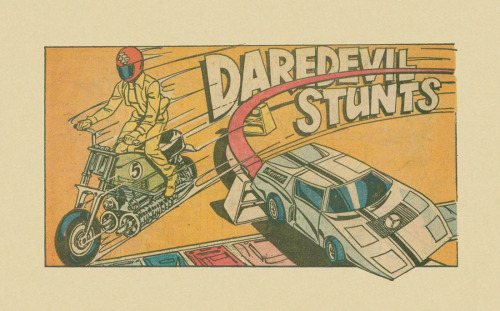 ISOLATED COMIC BOOK PANEL #208title: DAREDDEVIL STUNTS 2-PAGE AD - P1:1artist: UNKNOWNyear: 1975