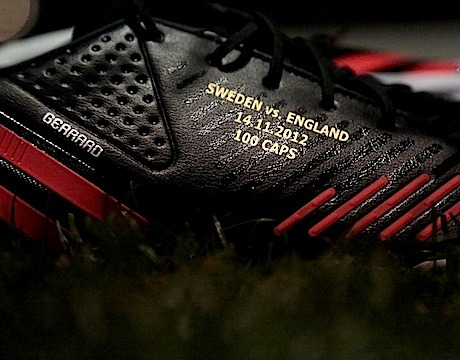 adidasfootball:  Steven Gerrard - 100 caps for England