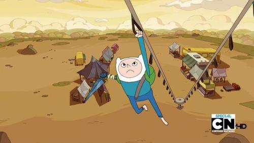 "Adventure Time's season 5 opener. Wow. Character-centric season 4 was fantastic, and I'm guessing what follows after this opener is a few more ""random"" episodes. Then we get to the meat: exploring character/world mythologies cultivated over 4 seasons. I'm guessing one episode will be about retrieving Hambo (Revealed to be from ___ in the sadbones episode ""I Remember You.""), Marceline's bear that Ash sold to a witch in ""Memory of a Memory."" Events/characters in passing mention are the absolute best things that the writers build up on — nothing is expected. I mean, we haven't seen Flame Princess in a while… What's also great is that season 5 premiered just a few weeks from the season 4 finale."