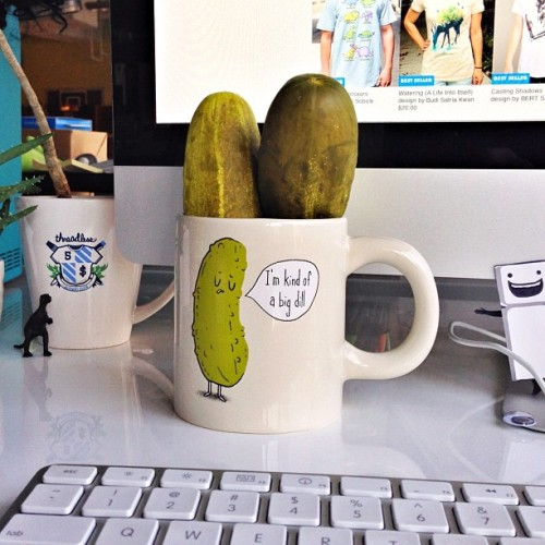 threadless:  Happy National Pickle Day! Buy yourself a Big Dill mug & get $10 tees! Use code $10TEES
