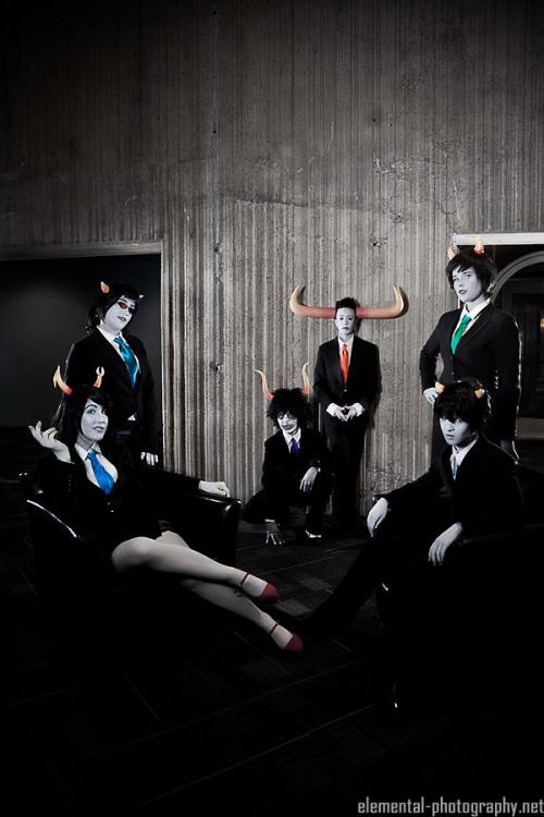 The Midnight Crew  tavros|kanaya|vriska|terezi|karkat|gamzee  Suitstuck @ Youmacon 2012