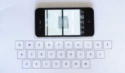 Invisible iPhone keyboard Florian Kräutli designed an iPhone application that maps nearby vibrations to keys on a keyboard. Thanks, Nick