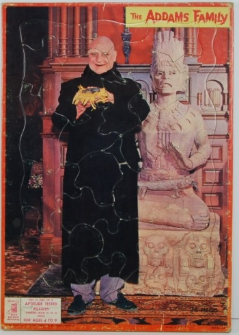 Addams Family Uncle Fester Frame Tray Puzzle (1965)