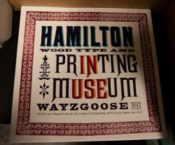 DO: Save Hamilton Type Museum and America's largest collection of Wood Type  The Hamilton Wood Type & Printing Museum hosts the largest collection of wood type in the United States and is being evicted from it's current building for developers. A place it has occupied since 1926. The museum needs help in funding its new home. Don't let a valuable resource of our design history disappear!  Thanks, Zoe-Zoe