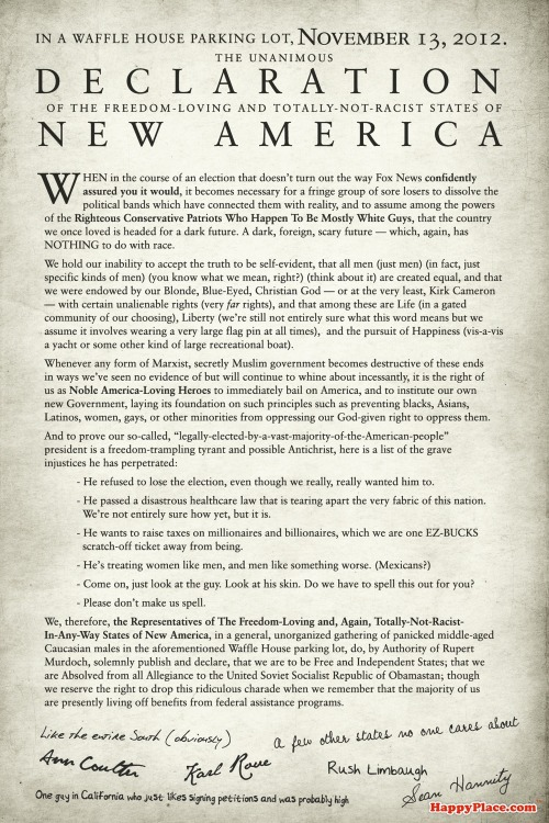 If today's secessionists wrote their own Declaration of Independence