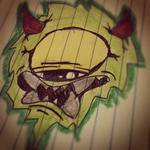 Sick ass shit!!.. #graffitiart #tagsandthrows #tag #art #caliart #drawing #instaart #graffiti #character #monsterart (at My GAY little world)