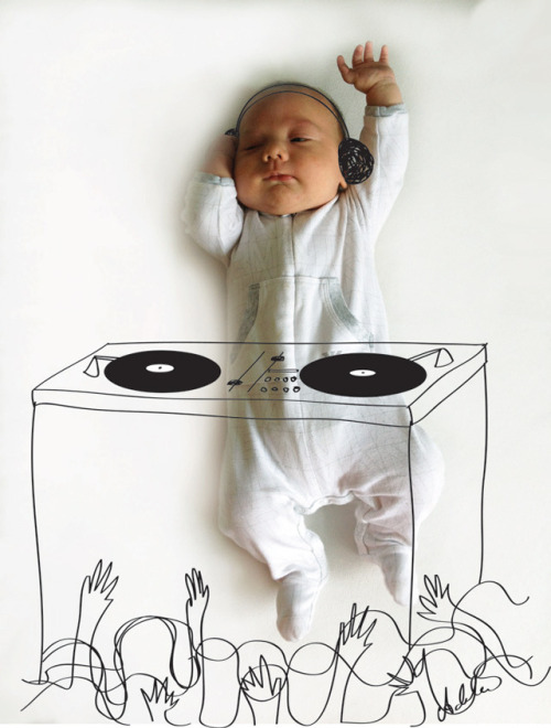 parenting:  laughingsquid:  Cute Sketches Imagine What a Baby is Doing While Taking a Nap  Just when you thought sleeping babies were adorable as is…