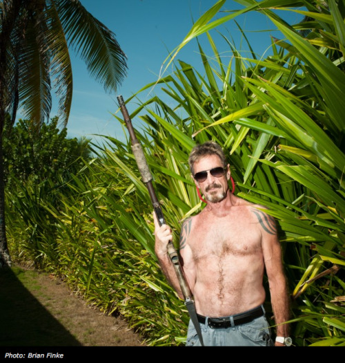 "It doesn't sound like much of a disguise, but John McAfee is doing his best to change his appearance as he continues to evade the police in Belize. In a case that seems to get more bizarre by the day, the 67-year-old has continued to call me with semi-hourly updates. The latest disclosure: He claims to have dyed his hair, eyebrows, beard, and mustache jet black. ""I have modified my appearance in a radical fashion,"" McAfee said, ""I'll probably look like a murderer, unfortunately."""