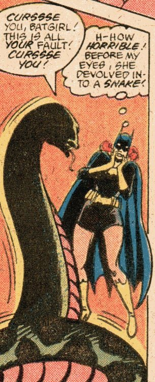 Curssses! —Detective Comics #517 (1982) by Cary Burkett & Jose Delbo