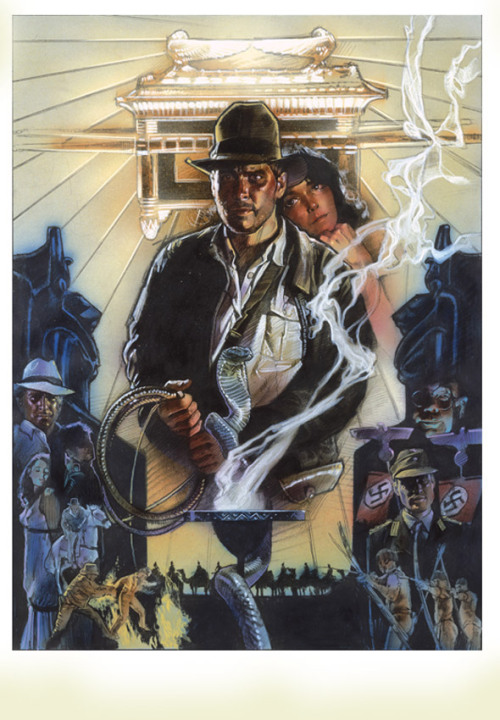 Wonderful unused Drew Struzan poster for Raiders of the Lost Ark.