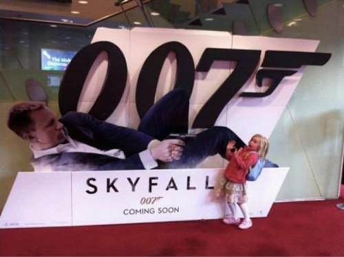 Little Girl Is Scared of James Bond It's time to talk, little lady.