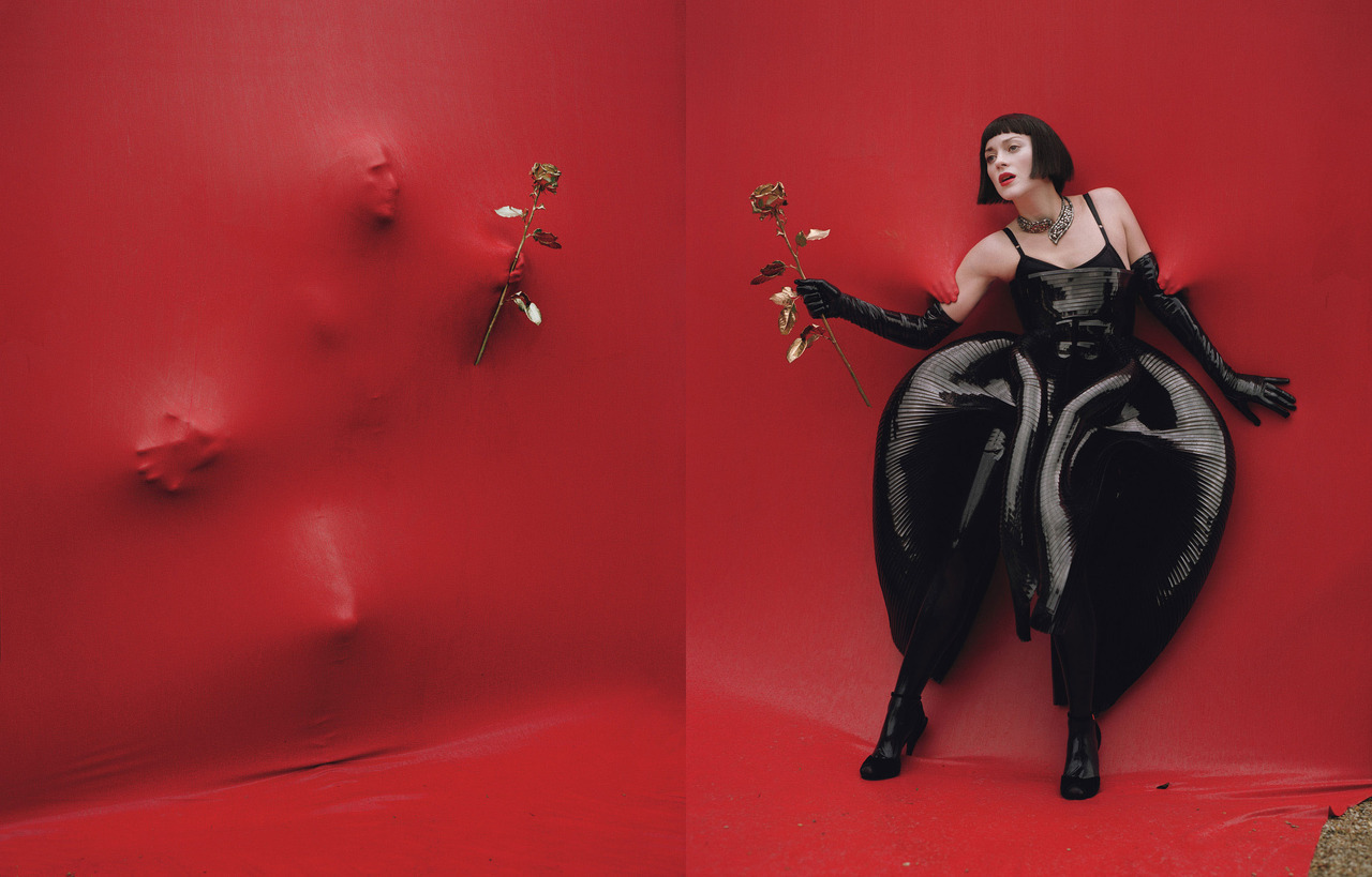 Photo by Tim Walker Inspiration via Missy Elliott—amiright? Marion shows us how to work it for the December 2012 issue.