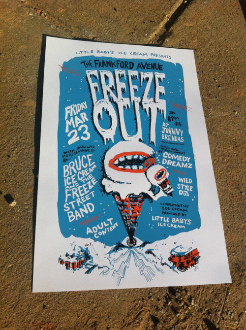 I created this benefit concert poster for the delicious Little Baby's Ice Cream right before they got really super famous…