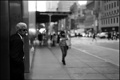 Black and White and Bubble Gum in Midtown…New York City, NY (via Damien Derouene)