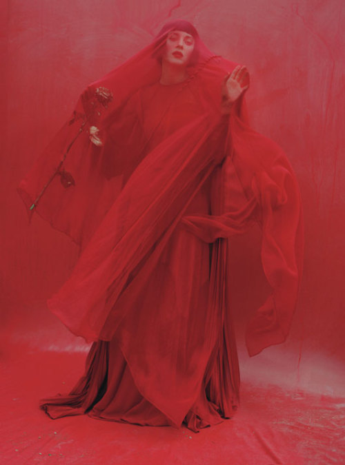 bohemea:  Marion Cotillard: Red Hot - W by Tim Walker, December 2012