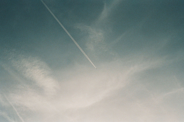 sevenfours:  contrails by planetails ✈ on Flickr.