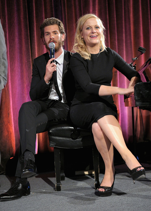 Andrew Garfield and Amy Poehler at the Worldwide Orphans gala