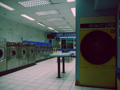 Night laundrette. Loughborough, November 2012.