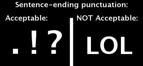 punctuation list