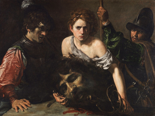 necspenecmetu:  Valentin de Boulogne, David with the Head of Goliath and Two Soldiers, c. 1620-2