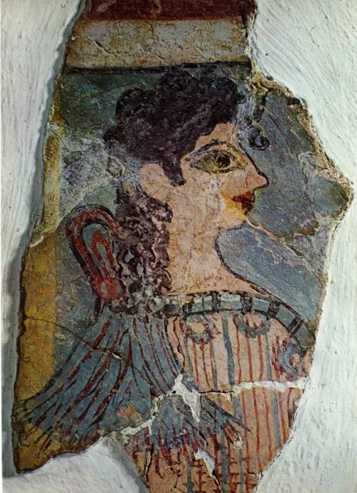 """The Parisiene"", fresco. Palace of Knossos. Crete, Greece. 1550-1450 B.C. (Late Minoan)"