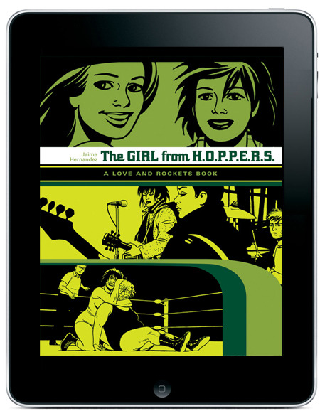 Fantagraphics and comiXology add to your digital Love and Rockets Library today with the release of Book 2 from Locas storyline by Jaime Hernandez, The Girl from H.O.P.P.E.R.S. More details on our blog.