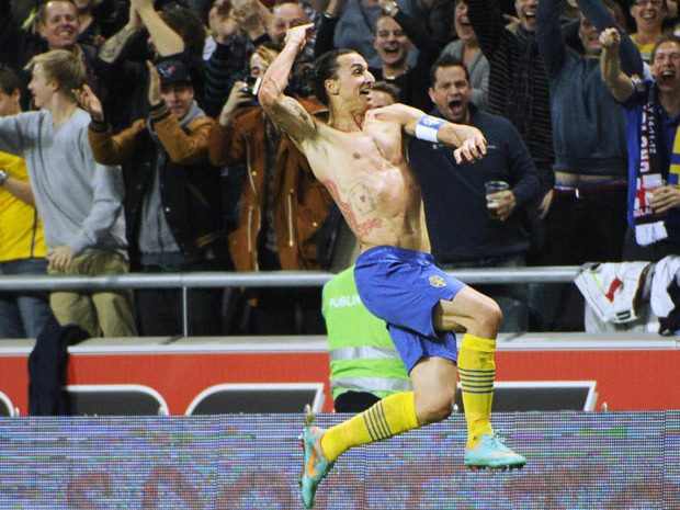 Goal of the year? Here is Zlatan Ibrahimovic's amazing moment during Sweden vs. England Zlatan Ibrahimovic capped a four-goal performance with a stunning overhead kick from 35 yards as Sweden beat England 4-2 in a friendly Wednesday to open its new national stadium. The Sweden captain opened the scoring on a counterattack in the 20th minute, but Danny Welbeck and Steven Caulker replied for England before the break. Watch the video.
