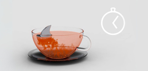 Sharky. Your friendly little tea infuser. I'm currently tossing up between 'sick and twisted' and 'that's pretty fun'. The designer is Pablo Matteoda from Argentina, and his lovely little creation can be purchased from good old Amazon.