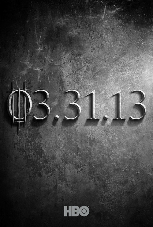 Game of Thrones's season 3 premiere date is literally set in stone.