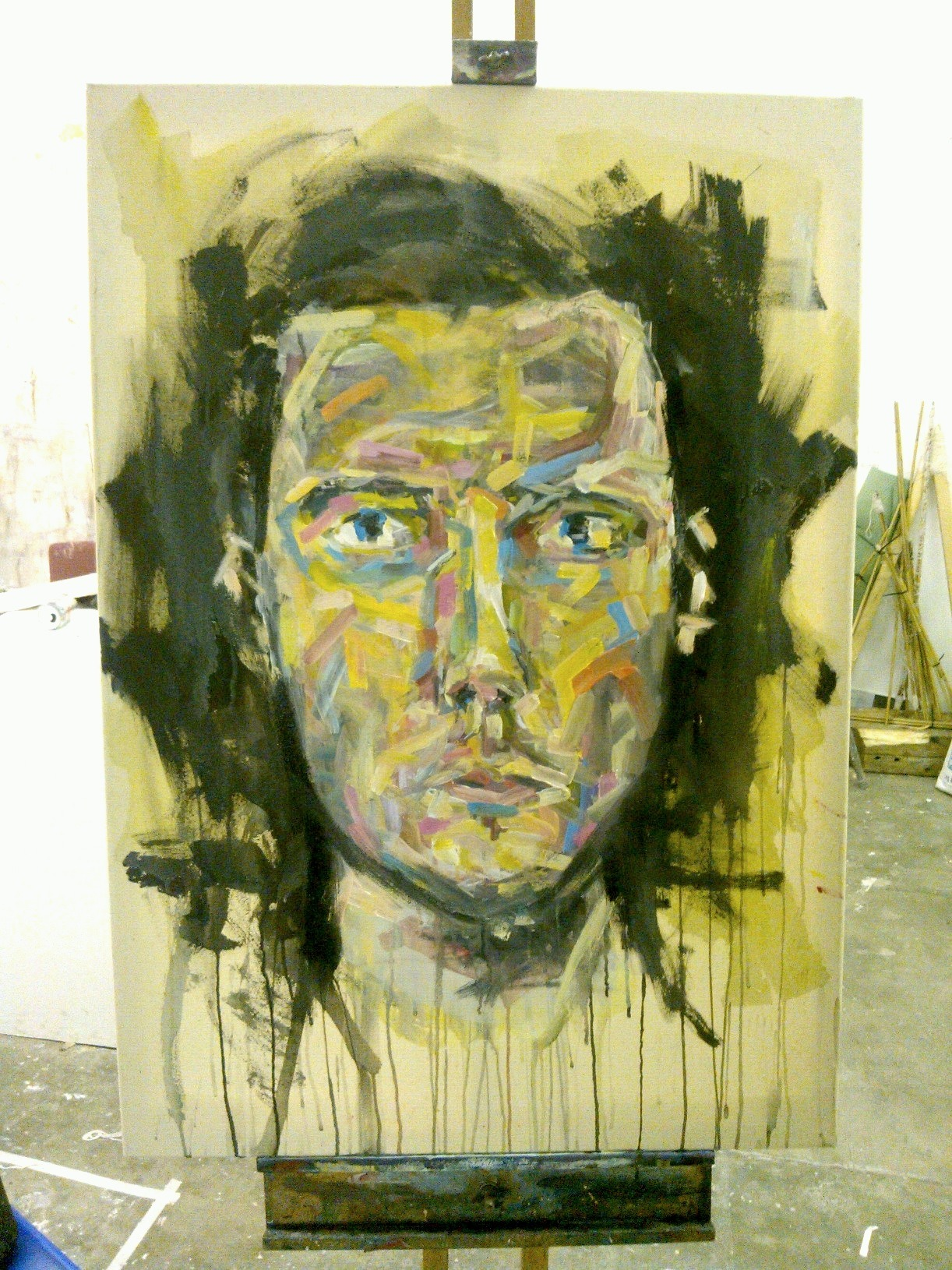 Half finished self-portrait - about 75% there