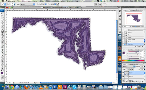 Work in Progress of the Maryland Paisley State! I'm finally getting back to the Paisley Series :) Super excited that my motivation is back.