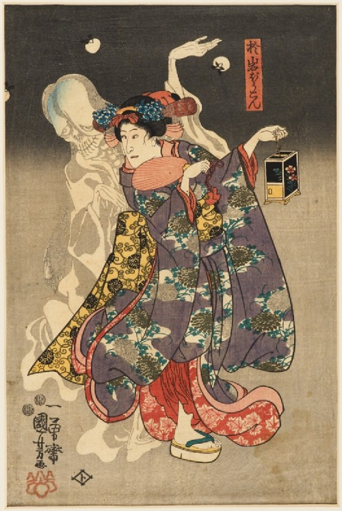 centuriespast:  The Spirit of Oiwa Tōkyō, 1847 - 1848 Utagawa Kuniyoshi (1797 - 1861) (designer) The Ashmolean Museum