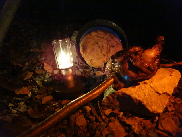 Bushcraft Food: Bannock & Chicken