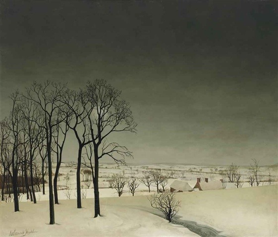 Valerius de Saedeleer, View of Tiegem in Winter, c. 1935