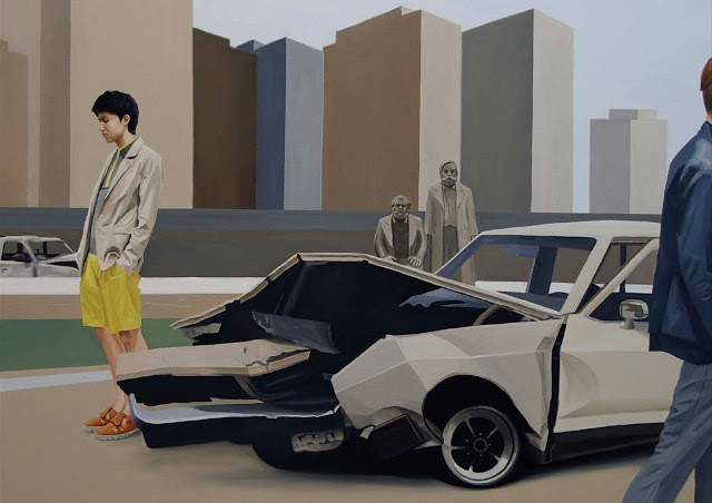 Lee Song painting for Wooyoungmi SS12 lookbook.
